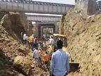 रेलवे अंडरपास के पास खुदाई में जुटे थे डेढ़ दर्जन श्रमिक, अचानक भरभराकर गिरी मिट्टी में दबकर एक की मौत; 3 घायल|कोटा,Kota - Dainik Bhaskar