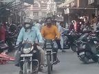 कोरोना से बेपरवाह बाजार, सोशल डिस्टेंसिंग का पता नहीं, पुलिस की अपील भी हो रही बेअसर|श्रीगंंगानगर,Sriganganagar - Dainik Bhaskar
