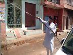 शहर के 15 से ज्यादा मोहल्ले और कॉलोनी में सैनिटाइजर पंप लेकर खुद पहुंचे मंत्री किया छिड़काव, लोगों को किया जागरूक|ग्वालियर,Gwalior - Dainik Bhaskar
