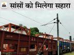 झारखंड से 80 मीट्रिक टन ऑक्सीजन के 10 टैंकर लेकर लखनऊ पहुंची ट्रेन, इनमें 4 कानपुर को दिए जाएंगे उत्तरप्रदेश,Uttar Pradesh - Dainik Bhaskar