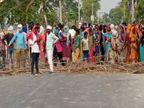 आजमगढ़ में रिकाउटिंग की मांग कर रहे लोगों ने पुलिस पर किया पथराव, उपद्रवियों ने SP की गाड़ी समेत कई वाहनों में तोड़फोड़ की|वाराणसी,Varanasi - Dainik Bhaskar