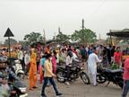 माननीय! ये कैसा लाॅकडाउन; खुली दुकानें, ऑटो में सवारियां, सब्जी मंडी में अथाह भीड़|पानीपत,Panipat - Dainik Bhaskar