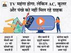 कस्टम ड्यूटी बढ़ने से महंगा हो सकता हैं TV का दाम, लेकिन कोरोना के डर से नहीं बिक रहा AC, कूलर और पंखा|बिजनेस,Business - Dainik Bhaskar