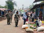 गिरिडीह में साप्ताहिक बाजार में जुटी भीड़ तो पुलिस ने दुकानदारों को खदेड़ा, दी कड़ी हिदायत|झारखंड,Jharkhand - Dainik Bhaskar