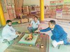 आर्य समाज ने कोरोना से मुक्ति के लिए किया सामूहिक वैदिक यज्ञ|श्रीगंंगानगर,Sriganganagar - Dainik Bhaskar