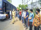 ये लोग बेवजह घूम रहे थे; बीमारी फैला रहे थे, 123 लोगों को बगराना भेजा गया|जयपुर,Jaipur - Dainik Bhaskar