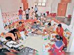 लॉकडाउन में रोज कमाने-खाने वालों के लिए राशन का संकट; ऐसे हजारों परिवार को दे रहे सूखा राशन रायपुर,Raipur - Dainik Bhaskar