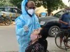 जालंधर की सब्जी मंडी में खरीदारी करने आई महिला निकली कोरोना पॉजिटिव, गेट पर घुसने से पहले हुआ टेस्ट|जालंधर,Jalandhar - Dainik Bhaskar