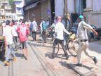 सुबह के 9 बजे और डंडा लेकर लोगों के पीछे दौड़ पड़ी पुलिस, 10 मिनट में बाजार, रास्ते सूनसान|ग्वालियर,Gwalior - Dainik Bhaskar