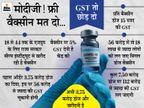 राजस्थान सरकार का आरोप- 3.75 करोड़ की वैक्सीन की पहली खेप पर केंद्र ने 56 करोड़ रुपए टैक्स वसूला, इतने में आ जाती 18 लाख डोज|जयपुर,Jaipur - Dainik Bhaskar