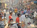 नगर निगम भी देखे- 60 फीट चौड़ी सड़क के दोनों ओर किस तरह अतिक्रमण कर दुकानें सजी हैं|रोहतक,Rohtak - Dainik Bhaskar