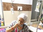 82 वर्ष की आयु , 80 प्रतिशत फेफड़े संक्रमित, ऑक्सीजन लेवल 75, लालू बाई कहती हैं, डॉक्टरों की बात मानो, मास्क पहनो और भगवान सब ठीक कर देगा|मुरैना,Morena - Dainik Bhaskar