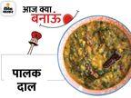 रात के खाने में कुछ हल्का खाने का मन हो तो पालक दाल बनाएं, इसे चावल या रोटी के साथ सर्व करें लाइफस्टाइल,Lifestyle - Dainik Bhaskar