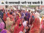 वैक्सीन की दूसरी डोज के लिए उमड़ी भीड़ में गुम हुई सोशल डिस्टेसिंग; बाजार में खरीदारी के उमड़े लोग, रोक पर भारी बहानेबाजी जयपुर,Jaipur - Dainik Bhaskar