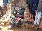 सिलेंडर के धमाके से दहला इलाका; घर में रखा सामान जलकर राख, घंटों मशक्कत के बाद पाया गया काबू|झांसी,Jhansi - Dainik Bhaskar