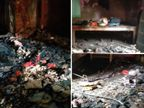 गोरखपुर के मकान में दीए से लगी भीषण आग, लाखों का सामान राख; पिता को बचाने में बेटा झुलसा|गोरखपुर,Gorakhpur - Dainik Bhaskar