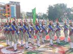 पुलिस लाइन में 153 महिला रिक्रूट्स ने किए कदमताल, अब सुरक्षा व्यवस्था संभालने की होगी जिम्मेदारी झांसी,Jhansi - Dainik Bhaskar