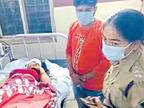 हॉस्पिटल के बेड पर बैठी मिली गोली लगने से घायल महिला, पुलिस ने पूछा नरेंद्र की कैसे मौत हुई, तो साध ली चुप्पी|भिंड,Bhind - Dainik Bhaskar