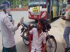 पुलिस ने बेवजह घूमने वालों का किया टेस्ट, रिपोर्ट निगेटिव आने पर भेजा अस्थाई जेल|इंदौर,Indore - Dainik Bhaskar