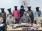 एक लाख के इनामी TPSC एरिया कमांडर समेत 7 उग्रवादी हथियार के साथ गिरफ्तार, रंगदारी लेने की सूचना पर की गई कार्रवाई झारखंड,Jharkhand - Dainik Bhaskar