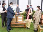 राज्यपाल ने दिए ऑक्सीजन कंसंंट्रेटर व पल्स ऑक्सीमीटर शिमला,Shimla - Dainik Bhaskar