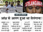 50 साल के संघर्ष के बाद तेलंगाना बना देश का नया राज्य; 7 साल बाद भी हैदराबाद तेलंगाना और आंध्र, दोनों की राजधानी|देश,National - Dainik Bhaskar