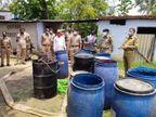 बहराइच में माफिया ने मकान को बना रखा था अवैध शराब का अड्डा, 80 लीटर कच्ची शराब के साथ 3 धराए लखनऊ,Lucknow - Dainik Bhaskar