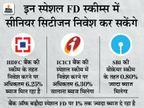 इस महीने खत्म हो रही SBI, HDFC, बैंक ऑफ बड़ौदा और ICICI बैंक की स्पेशल FD स्कीम, इनमें मिल रहा ज्यादा ब्याज|बिजनेस,Business - Dainik Bhaskar