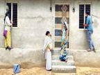 बांसवाड़ा में टीका लगाने पहुंची मेडिकल टीम, आगे का दरवाजा बंद कर पीछे से खेतों में भागे लोग, 900 की आबादी में सिर्फ 5 काे लगा|बांसवाड़ा,Banswara - Dainik Bhaskar