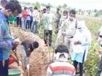 मारपीट के बाद सुनसान इलाके में ले जाकर जमीन में गड़ाया, 9 दिन से पुलिस ने निकाली लाश, एक पैर का पंचा गला बैतूल,Betul - Dainik Bhaskar