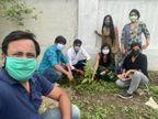 निजी संस्था ने सनखेड़ी पर रोपे औषधीय पौधे, प्रकृति बचाने का संदेश दिया भोपाल,Bhopal - Dainik Bhaskar