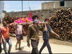 करंट की चपेट से हुई मौत, युवाओं ने चंदा इकट्ठा कर शव यात्रा निकाली; 'जय श्री राम' के नारे लगाए|कोटा,Kota - Dainik Bhaskar
