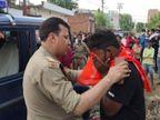 बच्चों के विवाद में मेरठ में दो पक्षों में मारपीट और पथराव, पुलिस ने भाजी लाठियां|मेरठ,Meerut - Dainik Bhaskar