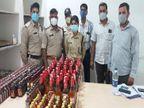 जबलपुर क्राइम ब्रांच ने भरतीपुर में आरोपी के घर दबिश देकर चार किलो गांजा और 237 बॉटल शराब जब्त किए|जबलपुर,Jabalpur - Dainik Bhaskar