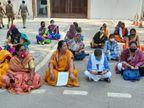 प्रयागराज में दुष्कर्म पीड़िता के हक के लिए महिलाओं ने IG दफ्तर पर प्रदर्शन किया, कहा- कोर्ट में पुलिस को भी बनाएंगे पार्टी|प्रयागराज,Prayagraj - Dainik Bhaskar