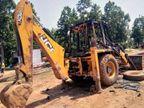 पुल निर्माण कार्य में लगे जेसीबी और ट्रैक्टर में लगाई आग, मजदूरों को पीटा; 5 राउंड की हवाई फायरिंग रांची,Ranchi - Dainik Bhaskar