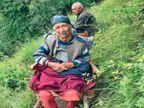 दूसरों के लिए प्रेरणा बनी कृष्णा; परिवार ने 85 साल की वृद्धा को एक किमी. दूर कुर्सी पर उठाकर पहुंचाया वैक्सीनेशन सेंटर|शिमला,Shimla - Dainik Bhaskar