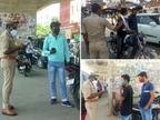 चेन स्नेचिंग के बढ़ते मामले देख पुलिस ने चलाया सघन चेकिंग अभियान, तेवर देख आमजन भी सहमें; सकरी गलियों पर खास नजर|वाराणसी,Varanasi - Dainik Bhaskar