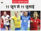 सेमीफाइनल और फाइनल मुकाबले लंदन के वेम्बली स्टेडियम में, पहली बार 11 देशों के 11 शहरों में होगा टूर्नामेंट|स्पोर्ट्स,Sports - Dainik Bhaskar