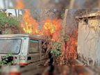 पुलिस लाइन के गैरेज में खड़ी जिप्सी में 5 साल पहले लगी आग, अब मुकदमा दर्ज; आग लगी या लगाई को स्पष्ट करने में लगा समय|होशंगाबाद,Hoshangabad - Dainik Bhaskar