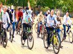 पेट्रोल-डीजल की बढ़ती कीमतों पर फिर कांग्रेस का हल्लाबोल, मोदी-रमन के चेहरे पहनकरकी जमकर नारेबाजी, 11 जून को प्रदेश भर में देंगे धरना छत्तीसगढ़,Chhattisgarh - Dainik Bhaskar