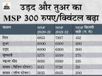 सरकार ने खरीफ फसलों का न्यूनतम समर्थन मूल्य बढ़ाया, तिल की MSP 452 रु., तुअर और उड़द दाल की 300 रु. बढ़ी|बिजनेस,Business - Dainik Bhaskar
