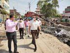 काम अधूरा पाए जाने पर नगर आयुक्त ने अभियंताओं को फटकार लगाई, चीफ इंजीनियर नेदीनिलंबन की चेतावनी|कानपुर,Kanpur - Dainik Bhaskar