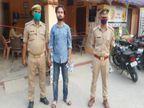 गोरखपुर में खुद को पुलिस अधिकारी बताकर दुकानदारों से करता था वसूली, पुलिस ने भेजाजेल|गोरखपुर,Gorakhpur - Dainik Bhaskar