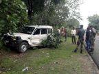 ट्रैक्टर की टक्कर से स्कॉर्पियो पेड़ से टकराई, तीन जख्मी; ट्रैक्टर लेकर भाग निकला ड्राइवर झारखंड,Jharkhand - Dainik Bhaskar