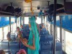 पहले दिन सवारियां आने का इन्तजार, जो आए उन्हें भी बिना थर्मल स्केनिंग के बिठाया, किसी बस में 5 तो किसी में 12 यात्री बैठे मिले पाली,Pali - Dainik Bhaskar