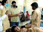 भाजयुमो कार्यकर्ताओं ने अस्पताल अधीक्षक से नाराजगी जताई, कहा-स्टाफ लगाएं, संसाधन बढ़ाएं|कोटा,Kota - Dainik Bhaskar