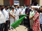 विधायक संदीप शर्मा ने हरि झड़ी दिखाई, हर वार्ड में ज़रूरतमन्दों को बांटे जाएंगे 11 हजार आटे के बैग|कोटा,Kota - Dainik Bhaskar