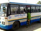 बाड़मेर में सुबह 6 बजे से विभिन्न रूटों पर शुरू हुई बस सेवा, पहले दिन 30 बसों का संचालन, यात्रियों को मास्क पहनाना अनिवार्य|बाड़मेर,Barmer - Dainik Bhaskar