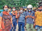 नशे में धुत्त बाइक सवार की टक्कर से राजमिस्त्री की गई जान, थाने का घेराव|पटना,Patna - Dainik Bhaskar